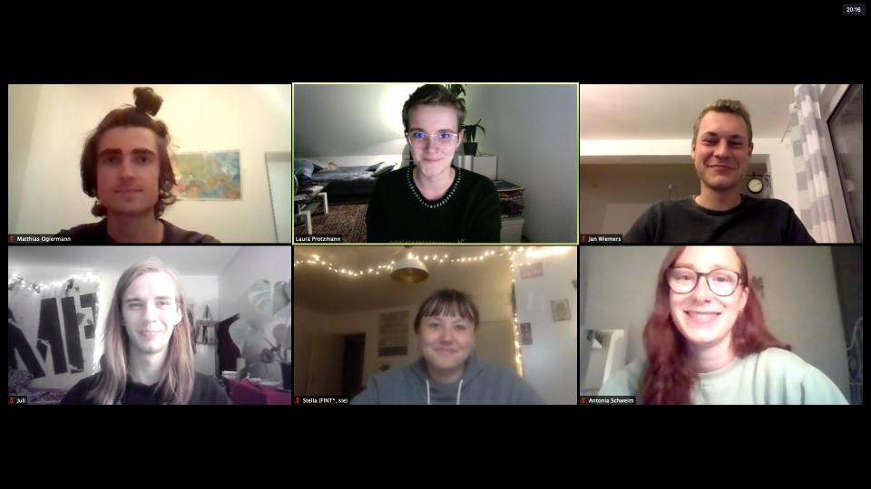 Man sieht 6 Menschen. Diese Menschen sind der neue Vorstand des Kaktus.